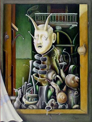 Zoran Velimanovic, Portrait of a Dead Friend, Fantasie, Postsurrealismus