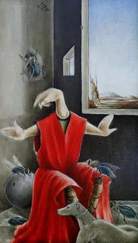 Zoran Velimanovic, Little Saint with Dog, Fantasie, Postsurrealismus