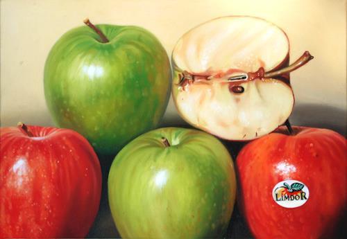 Jacques Bodin, Fruits XII, Pflanzen: Früchte, Stilleben, Hyperrealismus, Abstrakter Expressionismus