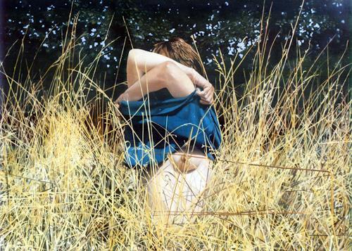 Jacques Bodin, Herbes I, Akt/Erotik: Akt Frau, Fotorealismus, Expressionismus