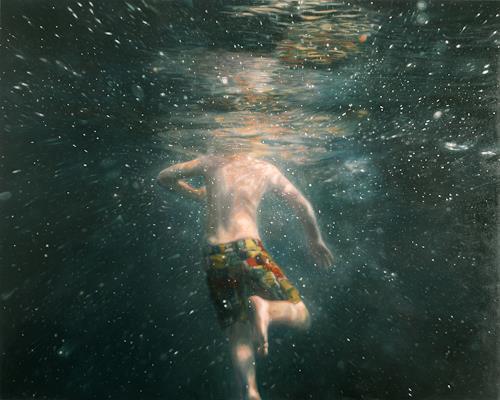 Jennifer Walton, Cosmic Reflection, Natur: Wasser, Weltraum: Gestirne, Realismus, Abstrakter Expressionismus