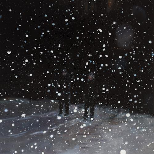 Jennifer Walton, Night Snow Globe, Diverse Menschen, Landschaft: Winter, Realismus