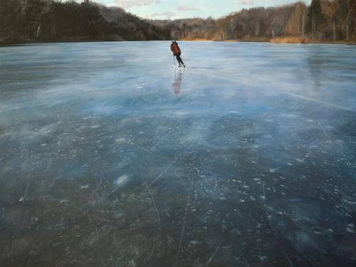 Jennifer Walton, Blue Glass, Sport, Landschaft: Winter, Gegenwartskunst, Expressionismus
