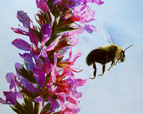 Jennifer Walton, Lythrum salicaria, Tiere: Luft, Pflanzen: Blumen, Gegenwartskunst, Expressionismus