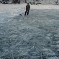 Jennifer-Walton-Landschaft-Winter-Sport-Gegenwartskunst--Gegenwartskunst-
