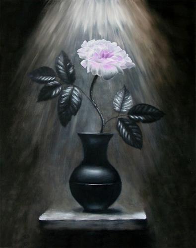 Vladimira Knüsel, Rose im Licht, Stilleben, Pflanzen: Blumen, Romantik