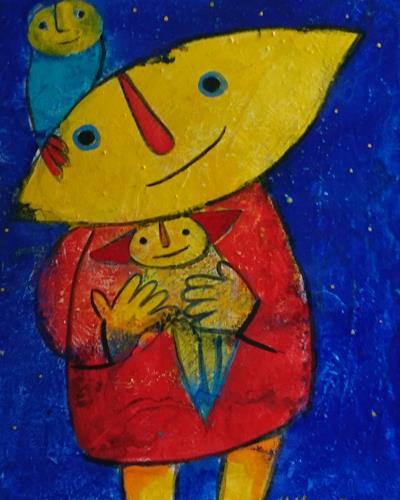 Helga Hornung, Tagträumerin, Fantasie, Gefühle, Gegenwartskunst, Expressionismus