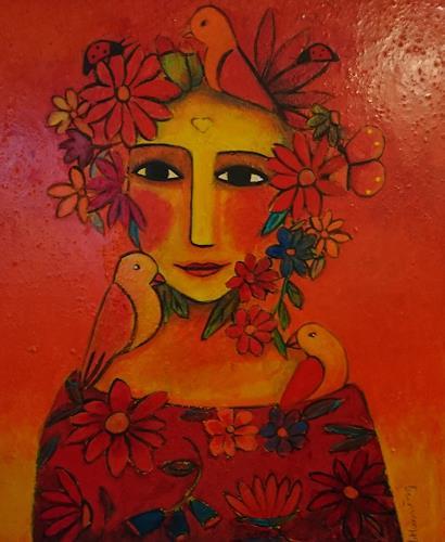 Helga Hornung, Blumenschönheit, Menschen, Gefühle, Gegenwartskunst