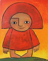 Helga-Hornung-Fantasie-Menschen-Kinder-Moderne-Naive-Kunst