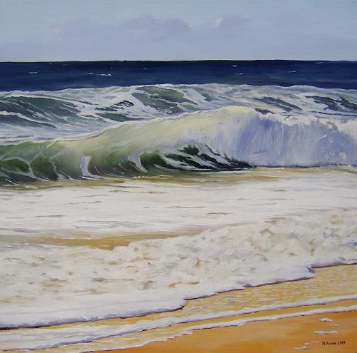 Andreas Kruse, Nordseewellen, Landschaft: See/Meer, Natur: Wasser, Realismus, Expressionismus