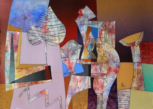 Georgi Demirev, Midnidgh blue_II, Märchen, Wohnen: Zimmer, Neo-Expressionismus