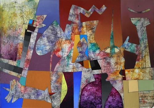 Georgi Demirev, Midnight blue_III, Karneval, Diverse Romantik, Postmoderne, Expressionismus
