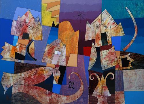 Georgi Demirev, Composition, Diverse Landschaften, Abstraktes, Gegenwartskunst