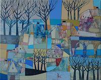 Georgi-Demirev-Landschaft-Winter-Abstraktes-Gegenwartskunst-Gegenwartskunst