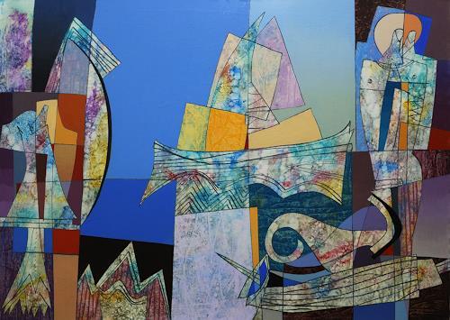 Georgi Demirev, Sea morning, Landschaft: Strand, Fantasie, Gegenwartskunst, Abstrakter Expressionismus
