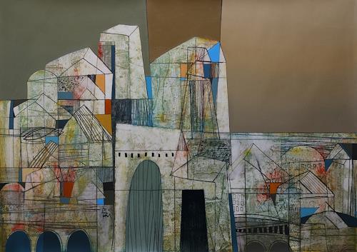 Georgi Demirev, Landscape, Diverse Landschaften, Diverse Gefühle, Gegenwartskunst, Expressionismus