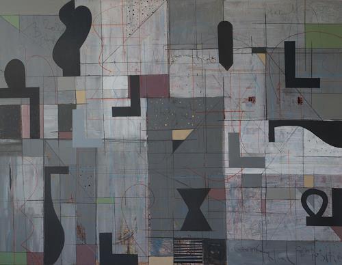 Georgi Demirev, Geometrical composition, Abstraktes, Mythologie, Abstrakte Kunst