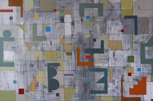 Georgi Demirev, Labyrinth, Abstraktes, Fantasie, Abstrakte Kunst