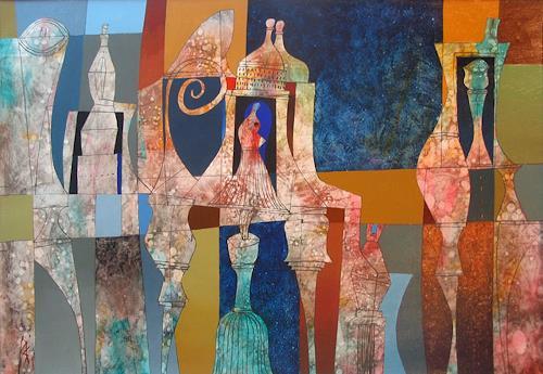 Georgi Demirev, Composition, Abstraktes, Fantasie, Colour Field Painting, Expressionismus