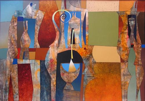 Georgi Demirev, Composition, Abstraktes, Fantasie, Informel, Expressionismus