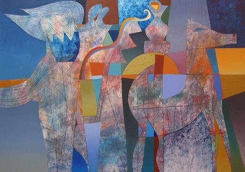 Georgi Demirev, Night, Abstraktes, Märchen, Konzeptkunst, Expressionismus
