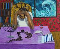 Erik-Slutsky-Menschen-Mann-Religion-Gegenwartskunst--Neo-Expressionismus