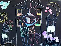 Erik-Slutsky-Menschen-Paare-Gefuehle-Liebe-Gegenwartskunst--Postmoderne