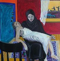Erik-Slutsky-Gefuehle-Trauer-Religion-Gegenwartskunst--New-Image-Painting
