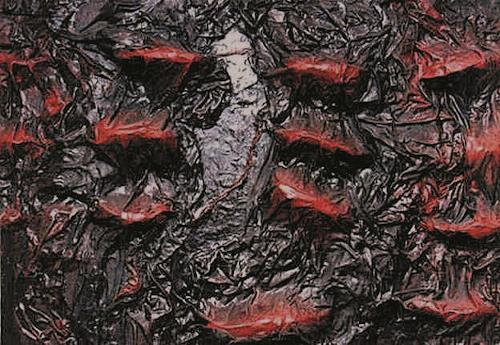 Lino Budano, virus, Abstraktes, Abstrakte Kunst, Abstrakter Expressionismus