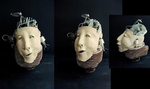 emilio merlina, Brain drain, Fantasie, Abstrakter Expressionismus
