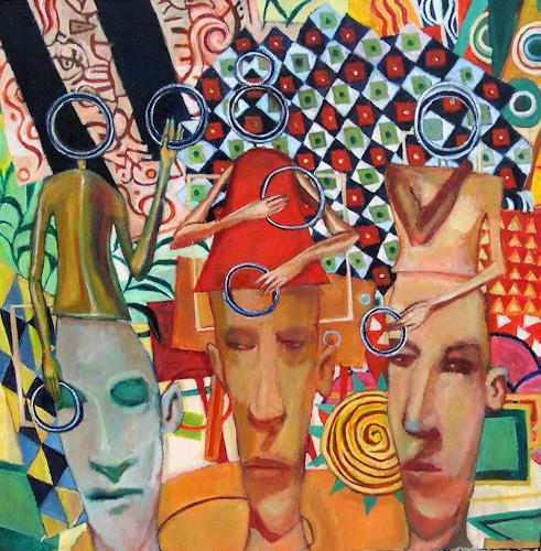 jonathan franklin, Ringers, Menschen: Gruppe, Karneval, Neo-Expressionismus, Abstrakter Expressionismus