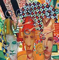 jonathan-franklin-Menschen-Gruppe-Karneval-Gegenwartskunst--Neo-Expressionismus
