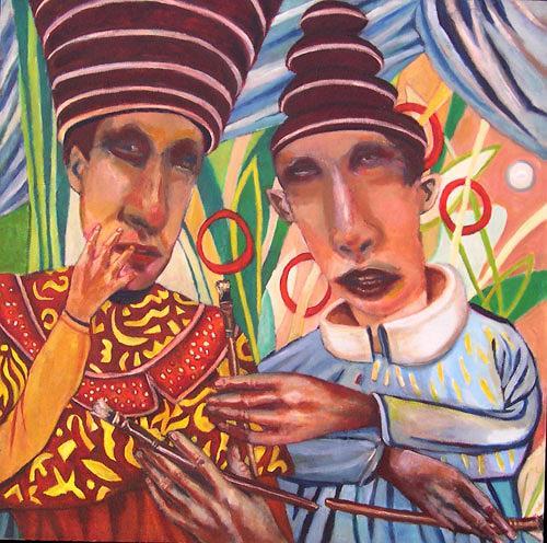 jonathan franklin, Token, Menschen: Mann, Karneval, Neo-Expressionismus