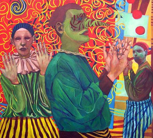jonathan franklin, Juggler, Karneval, Menschen: Gruppe, Neo-Expressionismus