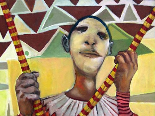 jonathan franklin, Kites, Zirkus: Clown, Karneval, Neo-Expressionismus