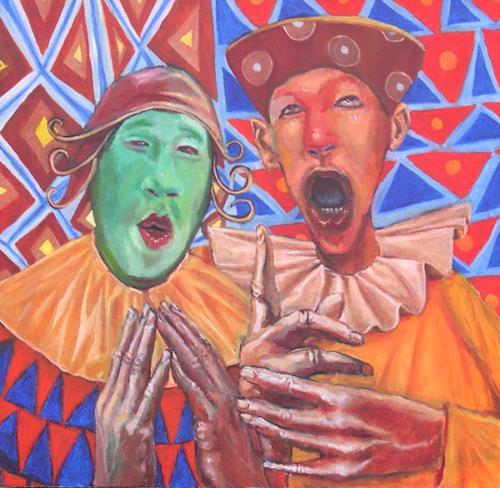 jonathan franklin, Pitch Perfect, Zirkus: Clown, Karneval, Neo-Expressionismus