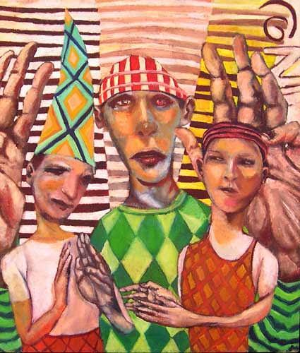 jonathan franklin, Blessing, Gefühle: Liebe, Menschen: Paare, Neo-Expressionismus