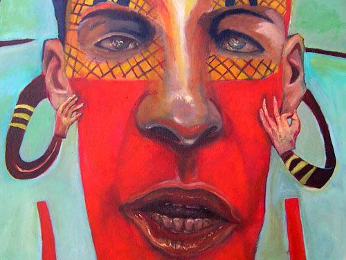 jonathan franklin, Talkie Talk, Menschen: Gesichter, Karneval, Neo-Expressionismus, Expressionismus