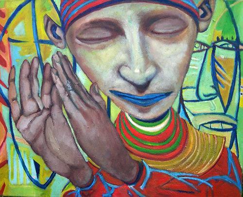 jonathan franklin, Hands Up, Gefühle: Freude, Karneval, Neo-Expressionismus, Abstrakter Expressionismus