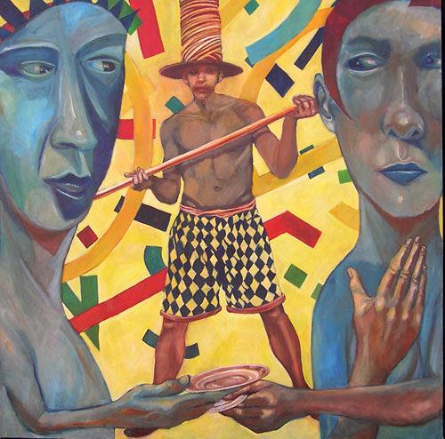 jonathan franklin, Even Trade, Menschen: Paare, Karneval, Neo-Expressionismus