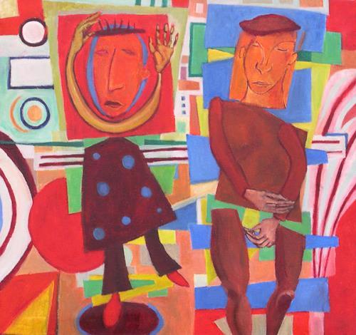 jonathan franklin, Slipslide, Gefühle: Freude, Menschen: Paare, Abstrakte Kunst