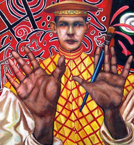 jonathan franklin, Sssplat, Karneval, Menschen: Mann, Neo-Expressionismus, Abstrakter Expressionismus