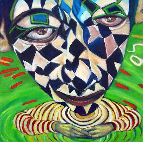 jonathan franklin, Wishing Well, Menschen: Gesichter, Karneval, Neo-Expressionismus, Abstrakter Expressionismus