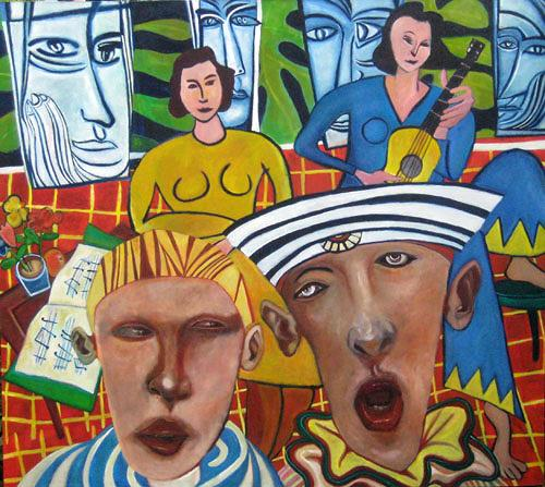 jonathan franklin, Yellow Guitar, Menschen: Gruppe, Musik: Musiker, Neo-Expressionismus