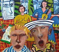 jonathan-franklin-Menschen-Gruppe-Musik-Musiker-Gegenwartskunst--Neo-Expressionismus