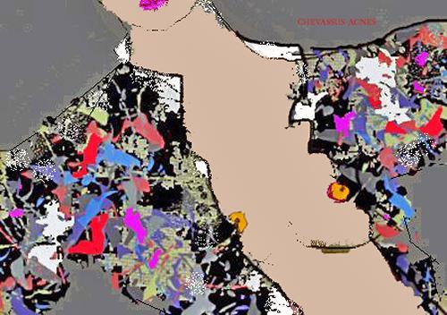 Jean-Pierre CHEVASSUS-AGNES, AUTUMN DRESS, Gefühle: Liebe, Dekoratives, Art Déco, Expressionismus