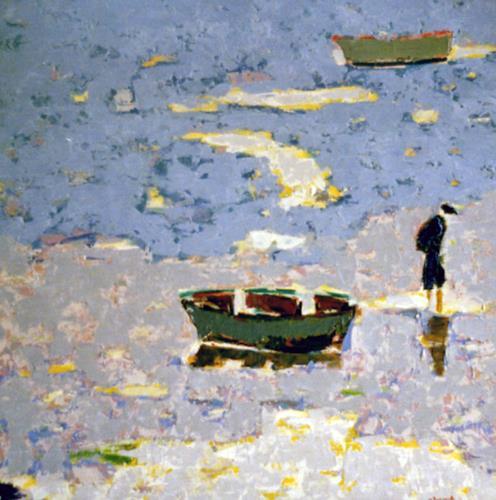 Jean-Pierre CHEVASSUS-AGNES, OCEAN, Landschaft: See/Meer, Menschen: Mann, Neuzeit, Expressionismus