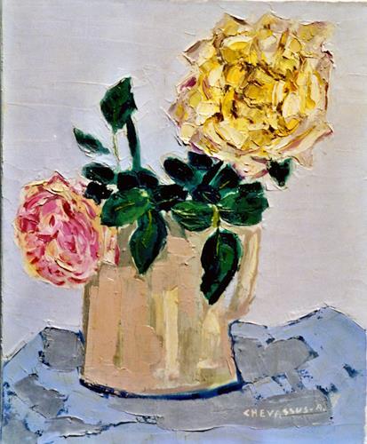 Jean-Pierre CHEVASSUS-AGNES, DA VINCI ROSES, Pflanzen: Blumen, Gefühle: Liebe, Gegenwartskunst, Expressionismus