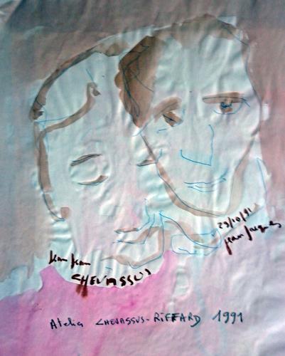 Jean-Pierre CHEVASSUS-AGNES, TWO FRIENDS, Menschen: Gruppe, Menschen: Mann, Gegenwartskunst