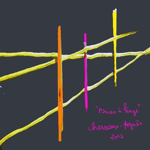 Jean-Pierre CHEVASSUS-AGNES, PINCES à LINGE, Poesie, Dekoratives, Neuzeit